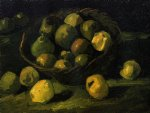 vincent van gogh still life with basket of apples painting-23722
