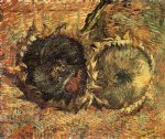 vincent van gogh still life with two sunflowers v painting