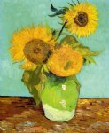 sunflowers ii by vincent van gogh painting