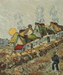 vincent van gogh thatched cottages in the sunshine reminiscences of the north paintings