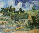 vincent van gogh thatched houses in cordville painting 23765