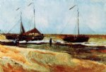 beach paintings - the beach at scheveningen in calm weather by vincent van gogh