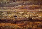 beach paintings - the beach at scheveningen by vincent van gogh