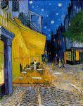 the cafe terrace by vincent van gogh painting