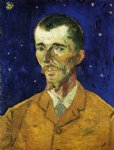 portrait paintings - the poet portrait of eugene boch by vincent van gogh