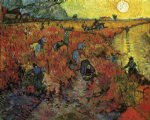 the red vinyard by vincent van gogh painting-24036