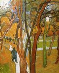 vincent van gogh the walk falling leaves art