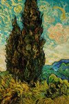 vincent van gogh two cypresses ii painting