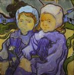 two little girls by vincent van gogh painting