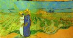 vincent van gogh two women crossing the fields print