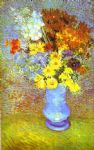 vase with daisies and anemones by vincent van gogh painting