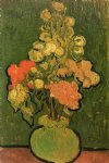 vase with rose by vincent van gogh painting