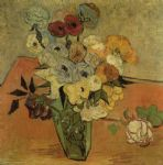 vincent van gogh vase with roses and anemones painting 84778