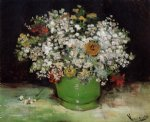 vincent van gogh vase with zinnias and other flowers painting 23899