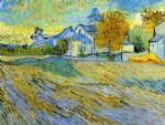 vincent van gogh view of the church of saint oil painting
