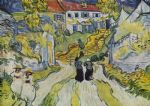 vincent van gogh village street and stairs with figures paintings
