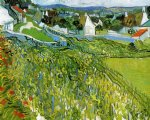 vincent van gogh vineyards with a view of auvers oil painting