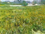 vincent van gogh wheat field at auvers with white house paintings