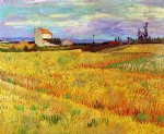 vincent van gogh wheat field with sheaves ii oil painting