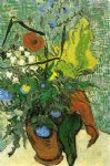 vincent van gogh wild flowers and thistles in a vase painting 23964