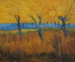 vincent van gogh willows at sunset ii oil painting
