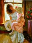 a mid morning chat by vladimir volegov paintings