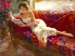 the red couch by vladimir volegov painting