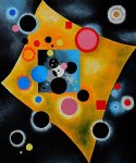 accent en rose by wassily kandinsky painting