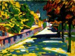 autumn in bavaria by wassily kandinsky painting