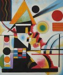 balancement swinging by wassily kandinsky painting