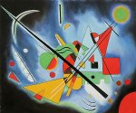 blue paintin by wassily kandinsky painting