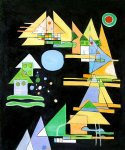 wassily kandinsky spitzen in bogen points in the elbow painting
