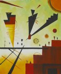 structure joyeuse merry structure by wassily kandinsky paintings-23323