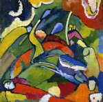 two riders and reclining figure by wassily kandinsky painting
