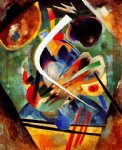 white line by wassily kandinsky painting