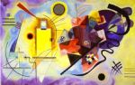 yellow red blue by wassily kandinsky painting