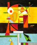 zersetzte spannung decomposed tension by wassily kandinsky painting
