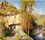 willard leroy metcalf old mill pelago italy painting
