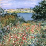 poppy paintings - poppy garden by willard leroy metcalf