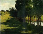 willard leroy metcalf sunlight and shadow painting