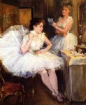 willard leroy metcalf the ballet dancers oil painting