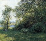 willard leroy metcalf the bower painting