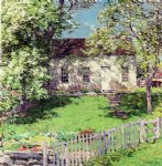 willard leroy metcalf the little white house painting 23271