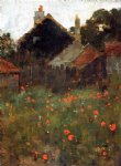 willard leroy metcalf the poppy field painting