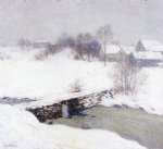 willard leroy metcalf the white mantle painting
