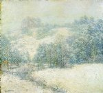 willard leroy metcalf the winter s festival painting