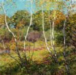 willard leroy metcalf waning summer painting