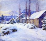 willard leroy metcalf winter afternoon painting
