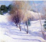 willard leroy metcalf winter in new hampshire painting