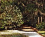 william aiken walker forest scene with moss painting
